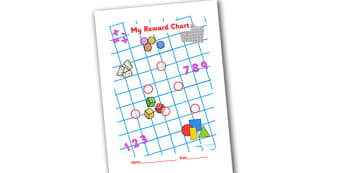Numeracy Themed Sticker Reward Chart 15mm - reward chart, sticker chart, sticker reward chart, numeracy reward chart, numeracy sticker chart, 15mm chart