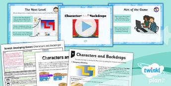 PlanIt - Computing Year 5 - Scratch Lesson 2: Characters and Backdrops Lesson Pack