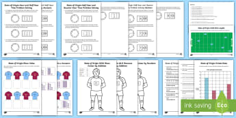 State of Origin Year F-2 Activity Pack - rugby, league, maroons, blues, NSW, sport, tournament, topic