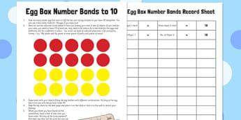 Egg Box Number Bonds to 10 - egg box, number bonds, 10, number