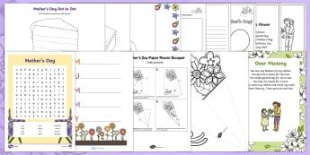 KS1 Mother's Day Activity Pack - KS1 & KS2 Mother's Day UK (26.3.17), mother, mum, mummy, grandma, nanny, celebtration