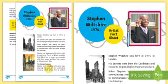 Stephen Wiltshire Artist Fact File - Stephen Wiltshire Artist  Fact File, art, artist, urban, landscapes, drawing, autism, MBE, panorama,