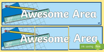 Awesome Area Measures Display Banner - measures, display banner, area, notice board, display, maths,Irish