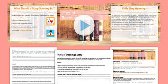 Ways of Opening a Story Lesson Pack - ways of opening a story, ways, open, story, lesson pack