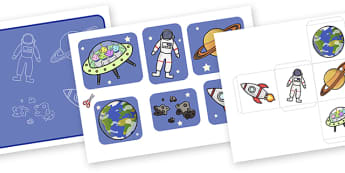 Space Themed Past Tense Activity (Lower) - space themed past tense activity, past tense, past, tense, grammar, activity, space, space themed, lower, rocket, astronaut