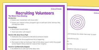 Circle of Friends Recruiting Volunteers - circle of friends, recruiting, volunteers