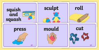 Malleable Area Word Display Posters - Malleable area, playdough, plasticine, models, model, display, poster, mould, playdough area, shape