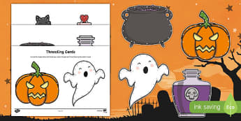 Halloween Threading Cards