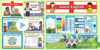 English Language Pack - Language, English, vocabulary, key words, phrases, basic
