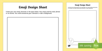 KS2 Emoji Design Activity Sheet - KS2, ks2, emoji, ks2 emoji, icon, design, draw, drawing, ks2 art and design, Worksheet.
