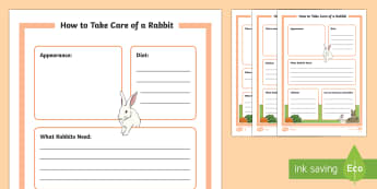 KS1 How to Look After a Rabbit Differentiated Fact File Activity Sheets - Pets, pet, EYFS, KS1, take, care, look, after, family, member, members, vet, vet surgery, surgery, i