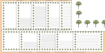 Elm Tree Themed Page Borders - elm tree, themed, page borders, page, borders