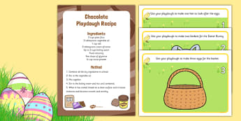 Easter Playdough Recipe and Mat Pack - EYFS, Early years, physical development, PD, fine motor, malleable