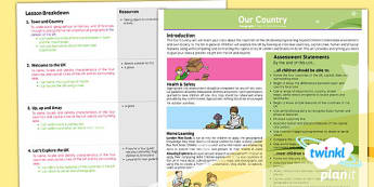 PlanIt - Geography KS1 - Our Country Planning Overview - planit