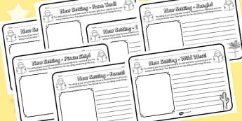 New Setting Worksheet Pack - new setting, worksheet pack, worksheets, work sheet, work sheets, pack of worksheets, resource pack, literacy, writing