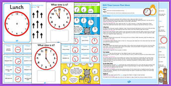 KS1 Maths Time Lesson Plan Ideas Resource Pack - ks1, maths, time, lesson plan, ideas