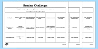 Reading Challenges Activity Sheets-Irish, worksheet