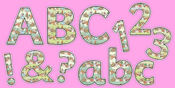 Beatrix Potter Display Letters and Numbers Pack - beatrix potter, display, letters, numbers, symbols, pack