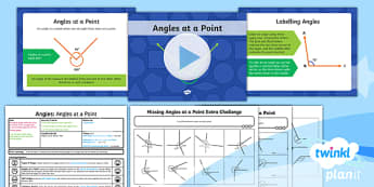PlanIt Y6 Properties of Shape Lesson Pack - Properties of Shape, acute, obtuse, reflex, angles at a point, 360 degrees, missing angles, calculat