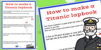 The Titanic Lapbook Instructions Sheet - lapbook, instructions