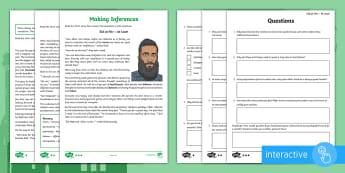 Eid al Fitr Inference Go Respond  Activity Sheets -  read, respond, infer, Muslim, Islam, celebration, religion