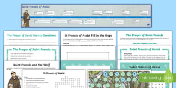 Saint Francis of Assisi  Activity Pack-Australia