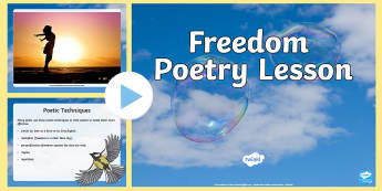 Freedom Poetry Lesson Starter PowerPoint - freedom Poetry Lesson Starter PowerPoint, freedom poetry, national poetry day, poetry, writing,Scott