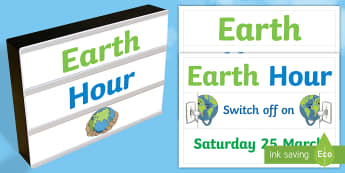Earth Hour Light Box Inserts - Australia, EYLF, Themes Topics and events, festivals and celebrations, earth hour, light box inserts