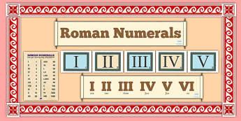 Roman Numerals Display Pack