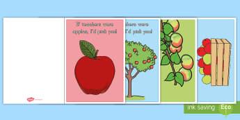 If Teachers Were Apples, I'd Pick You! Card Craft - Teacher Appreciation Week, Teacher Appreciation, apple, apples, choose, pun, funny, cute, joke, gift