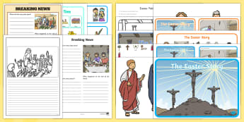 The Easter Story Religious Resource Pack - Easter, Easter Story, Easter resources, religious resources, jesus, christianity, religious educatio
