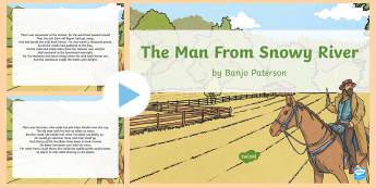 Banjo Paterson 'The Man From Snow River' - Banjo Paterson, Australian Poets, Poem