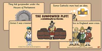 A conspiração da pólvora Portuguese Translation - portuguese, gunpowder plot, story