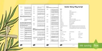 Easter Story Play Script - easter, easter story, easter script