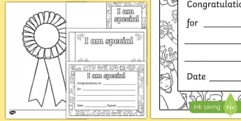 I Am Special Award Resource Pack