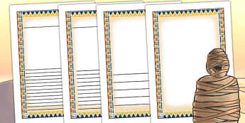 Ancient Egyptian Themed Writing Frames - egypt, ancient egypt