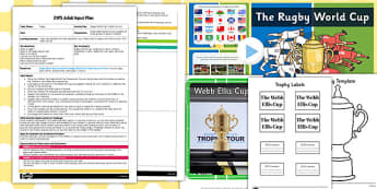 Rugby World Cup Trophy Activity EYFS Adult Input Plan and Resource Pack