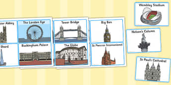London Landmark Cards - london, landmark, cards, city, england