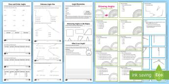 Angle Resource Pack - ACMMG112, Year 5 Maths, Angles, Angle, Measure Angles, Draw Angles, Estimate Angle, Angle Size, Chal