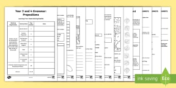 Years 3 and 4 Grammar: Prepositions Learning From Home Activity Booklet - Learning From Home Activity Booklets (KS2), preposition, prepositions,  prepositional phrases, adver