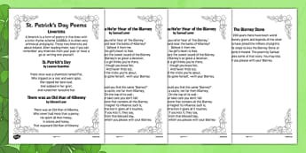 Elderly Care St Patrick's Day Poems - Elderly, Reminiscence, Care Homes, St. Patrick's Day