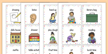 EAL cards - Daily Routine Primary Resources - Daily, Routine, Day, Schedule