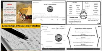 Expanding Sentences Story Starter Teaching Pack - story, starters