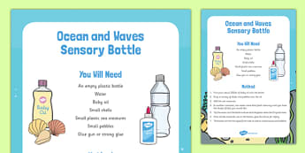 Ocean and Waves Sensory Bottle - ocean, waves, sensory bottle, sensory