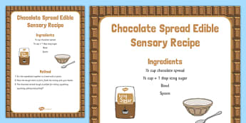Chocolate Spread Edible Sensory Recipe - Easter, Messy play, chocolate spread, edible, sensory recipe, sensory, recipe