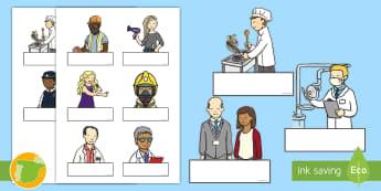 ES - Auto registro: Las profesiones - Las profesiones, proyecto, transcurricular, trabajos, oficios, profesor, profesora, veterinario, vet