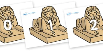 Numbers 0-50 on Sphinx - 0-50, foundation stage numeracy, Number recognition, Number flashcards, counting, number frieze, Display numbers, number posters