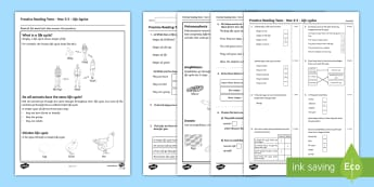 Practice Reading Tests Year 2 & 3 Life Cycles Assessment Pack - Procedural Examples, tests, test, Numeracy Tests, procedural,  Years 5, years 6, Deunyddiau Sampl Gw