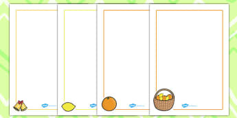 Oranges and Lemons Page Borders - page borders, oranges, lemons
