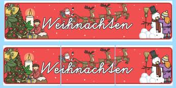 Weihnachten Banner für die Klassenraumgestaltung - Weihnachten Banner für die Klassenraumgestaltung, Weihnachten Banner, Weihnachts Banner, Banner, We